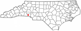 Location of Bessemer City, North Carolina