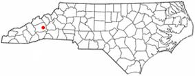 Location of Black Mountain, North Carolina