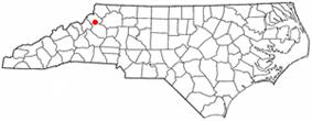Location of Blowing Rock, North Carolina