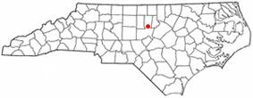 Location of Carrboro, North Carolina.