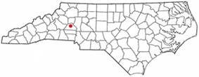 Location of Conover, North Carolina