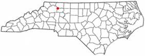 Location of Elkin, North Carolina