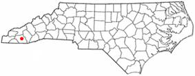 Location of Franklin, North Carolina