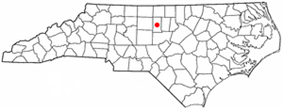 Location of Graham, North Carolina