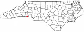 Location of Grover, North Carolina