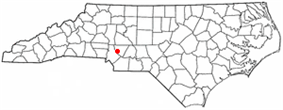 Location of Harrisburg, North Carolina