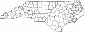 Location in the U.S. state of North Carolina