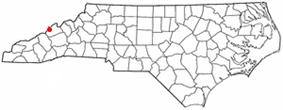 Location of Hot Springs, North Carolina