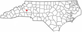 Location of Icard, North Carolina