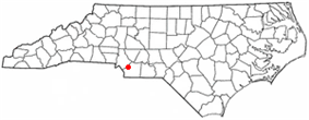 Location in the state of North Carolina