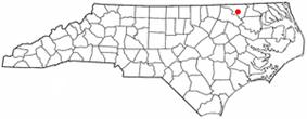 Location of Jackson, North Carolina