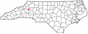 Location of Lenoir, North Carolina