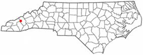 Location of Maggie Valley, North Carolina
