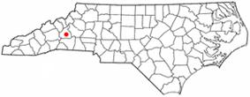 Location of Marion, North Carolina