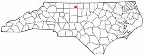 Location of Reidsville, North Carolina