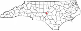 Location of Sanford, North Carolina