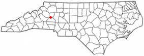 Location of St. Stephens in North Carolina