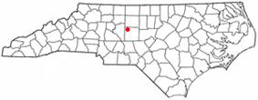 Location of Trinity, North Carolina