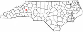Location of Valdese, North Carolina