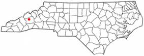 Location of Weaverville, North Carolina