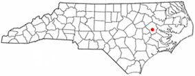 Location of Winterville, North Carolina