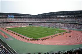 Interior of Nissan Stadium