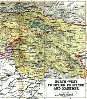 Location of Kashmir
