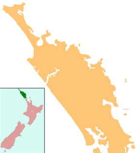 Maungakaramea is located in Northland Region