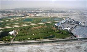Aerial view of Nad Al Sheba Racecourse