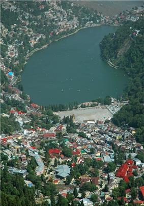 View of Nainital Lake City