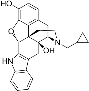 Chemical structure of Naltrindole.