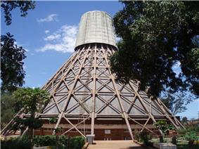 Namugongo Martyrs Shrine (Catholic Basilica) by Justus Dahinden (1973)