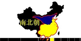 Territory at the beginning:Blue represents the territory of Northern Wei, Yellow represents the territory of Liu Song