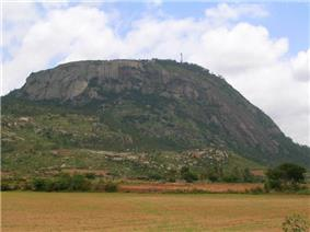 View of Nandi hills from Nandi town at the base