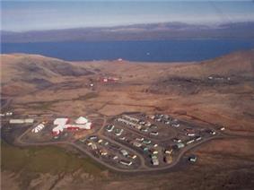 Aerial view of Nanisivik