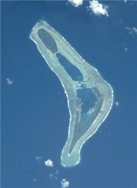 Nanumea atoll from space