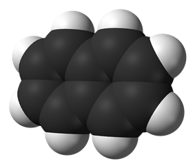 Spacefill model of naphthalene