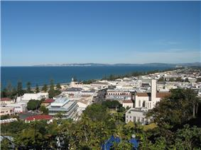 View of Napier on Hawke Bay