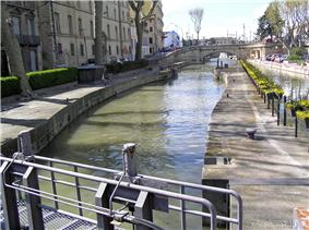 The Canal de la Robine in 2003. (Taken from the