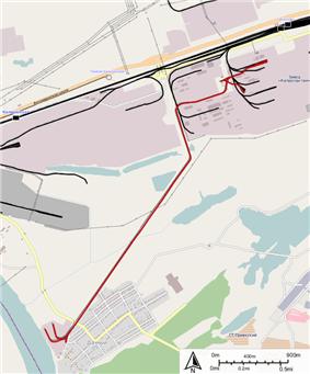 Narrow gauge railway of Caprolactam factory.png
