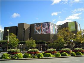 Exterior view of the National Arts Centre from Elgin Street