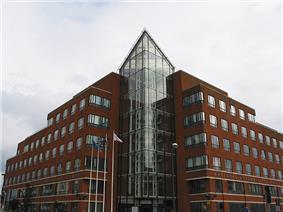 Red brick modern six-floor building