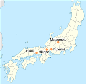 National Treasures are found in four cities in central Honshū.