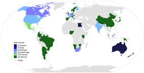 Map of nations' best results