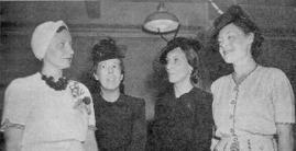 Navy Nurse Corps POWs Chief Nurse Marion Olds, Leona Jackson and Lorraine Christiansen after their release.