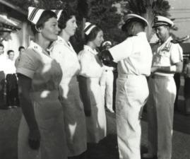 The first Navy Nurse Corps Officers to receive the Purple Heart Medal, Vietnam.