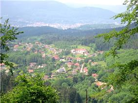 View of Nayemont-les-Fosses, with Saint-Dié-des-Vosges in the background