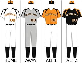 Netherlands' national baseball uniform