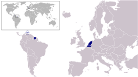 A map showing the member states of the Dutch Language Union (dark blue)