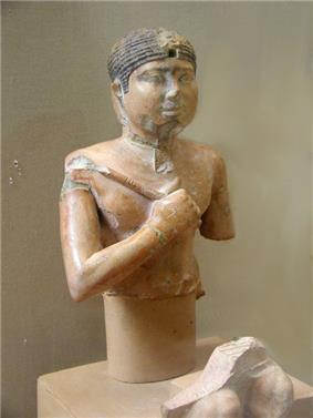Painted limestone statue of Neferefre